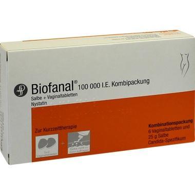 Biofanal® 100.000 I.E. Kombipackung Salbe und Vaginaltabletten
