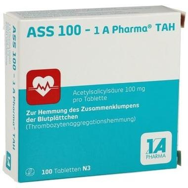 ASS 100 - 1 A Pharma® TAH, Tbl.