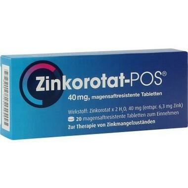 Zinkorotat-POS®, magensaftresistente Tabletten