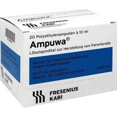 Ampuwa®, Lösungsmittel zur Herstellung von Parenteralia Plastikamp. 10ml