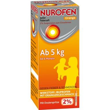 Nurofen® Junior Fiebersaft 2% Orange, Suspension zum Einnehmen