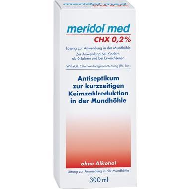 Meridol med CHX 0,2 % Lösung zur Anwendung in der Mundhöhle