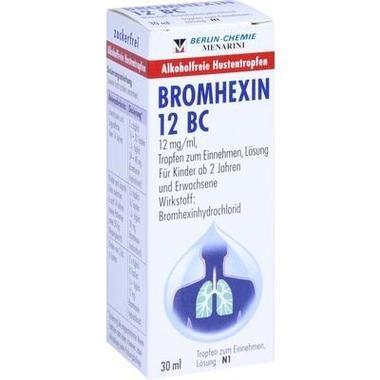BROMHEXIN 12 BC, 12 mg/ml, Tropfen zum Einnehmen, Lösung
