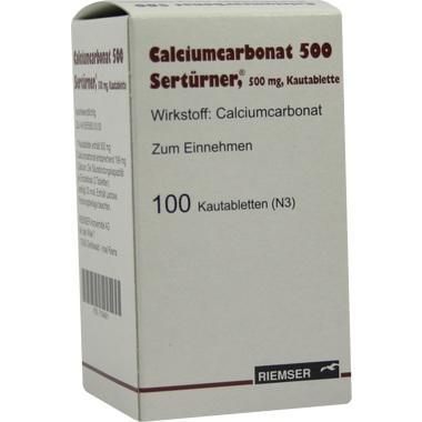 Calciumcarbonat 500 Sertürner®, 500 mg, Kautablette