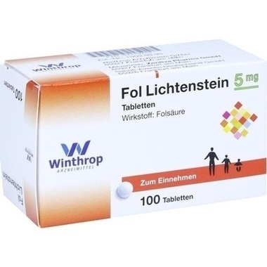 Fol Lichtenstein, 5 mg, Tabletten