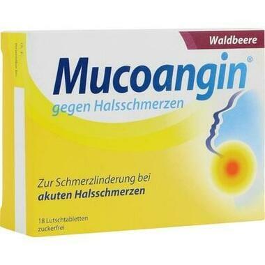 Mucoangin® gegen Halsschmerzen Waldbeere 20 mg/Lutschtablett