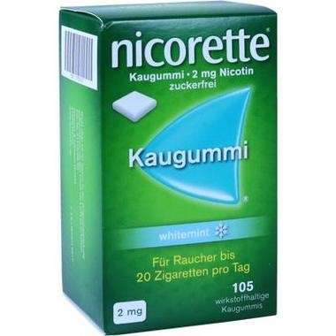 Nicorette whitemint 2mg Kaugummi