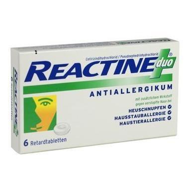 Reactine duo®, 5 mg /120 mg Retardtabletten