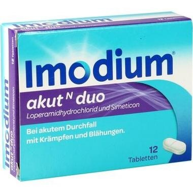 Imodium® akut N duo 2 mg/125 mg Tabletten