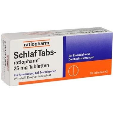 SchlafTabs-ratiopharm® 25 mg Tabletten