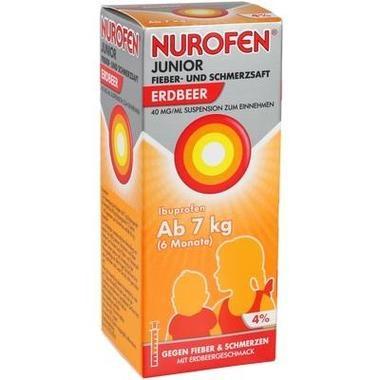 Nurofen Junior Fieber+Schmerzsaft Erdbeere 40mg/ml