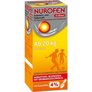 Nurofen Schmerz- und Fiebersaft Erdbeer 40 mg/ml Suspension zum Einnehmen