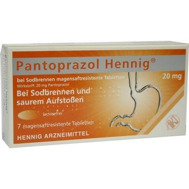 Pantoprazol Hennig® bei Sodbrennen 20mg magensaftresistente Tabletten