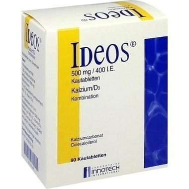Ideos® 500 mg/400 I.E. Kautabletten