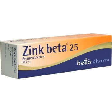 Zink beta® 25 mg, Brausetabletten