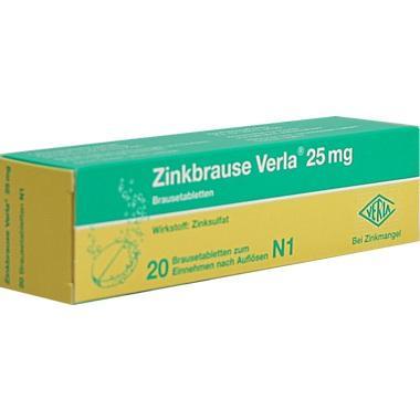 Zinkbrause Verla® 25mg, Brausetbl.