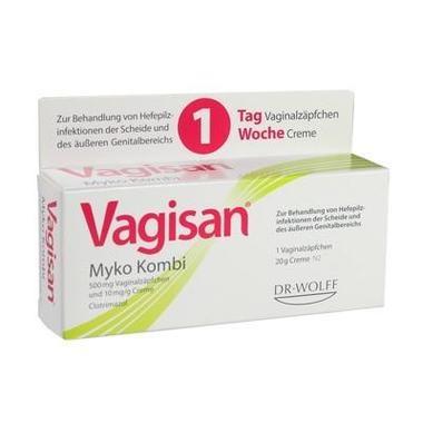 Vagisan® Myko Kombi, Vaginalzäpfchen und Creme