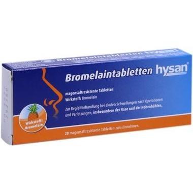 Bromelaintabletten hysan®, magensaftresistente Tabletten