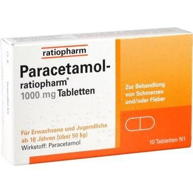 Paracetamol-ratiopharm® 1000 mg Tabletten