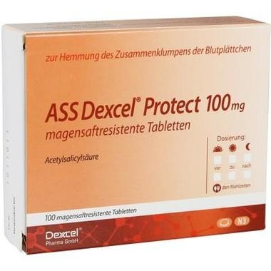 ASS Dexcel Protect 100 mg magensaftresistente Tabletten