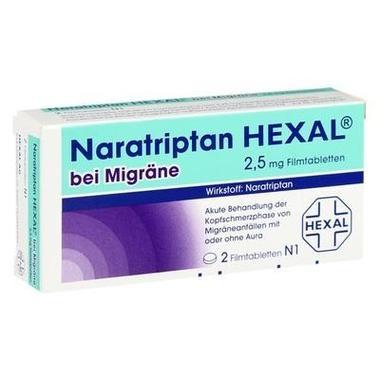 Naratriptan HEXAL® bei Migräne 2,5 mg Filmtabletten