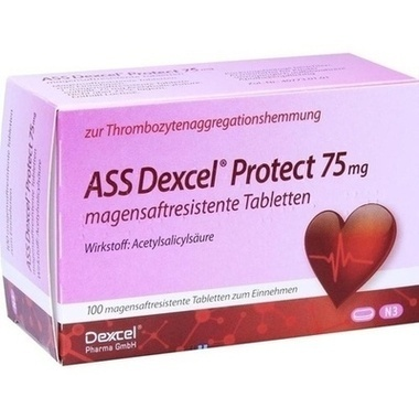 ASS Dexcel Protect 75 mg magensaftresistente Tabletten