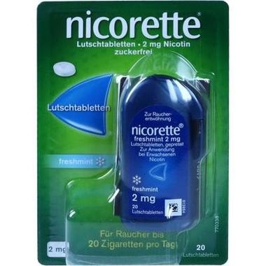 Nicorette freshmint 2 mg Lutschtabletten, gepresst
