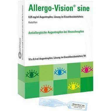 Allergo-Vision® sine 0,25 mg/ml Augentropfen im Einzeldosisbehältnis