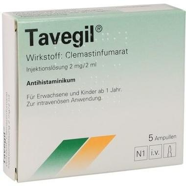 Tavegil® Injektionslösung 2 mg/2ml