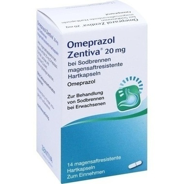Omeprazol Zentiva 20mg bei Sodbrennen magensaftresistente Hartkapseln