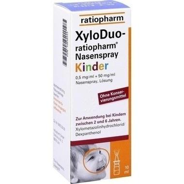 XyloDuo-ratiopharm Nasenspray Kinder 0,5 mg/ml + 50 mg/ml Nasenspray, Lösung