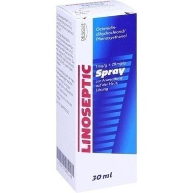 Linoseptic 1 mg/g + 20 mg/g Spray zur Anwendung auf der Haut, Lösung