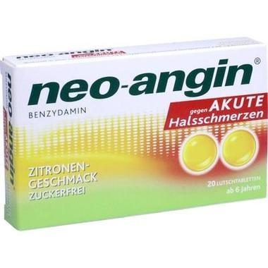 neo-angin® Benzydamin gegen akute Halsschmerzen, Zitrone