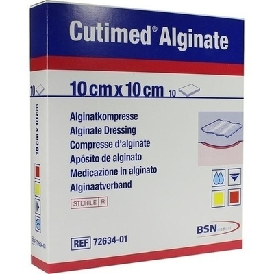 CUTIMED Alginate Alginatkompressen 10x10 cm /DE