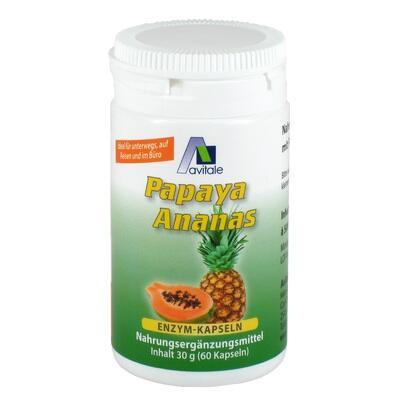 PAPAYA ANANAS Enzym Kapseln