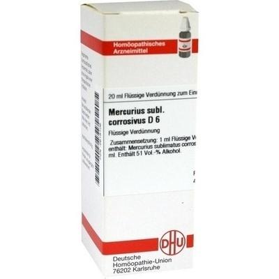 MERCURIUS SUBLIMATUS corrosivus D 6 Dilution
