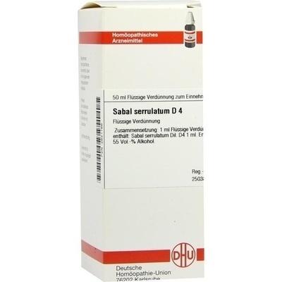 SABAL SERRULATUM D 4 Dilution