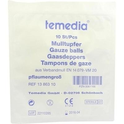 MULLTUPFER 2+2 pflaumengro/ß steril 1 P Tupfer