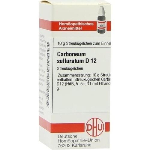 CARBONEUM SULFURAT. D 12 Globuli