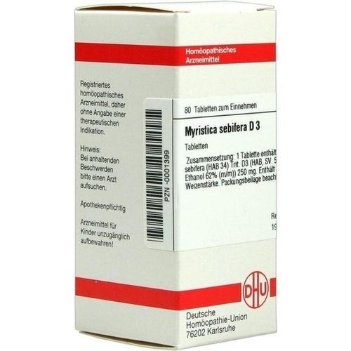 MYRISTICA SEBIFERA D 3 Tabletten