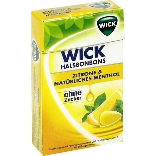WICK Zitrone & natürliches Menthol Bonb.o.Zucker