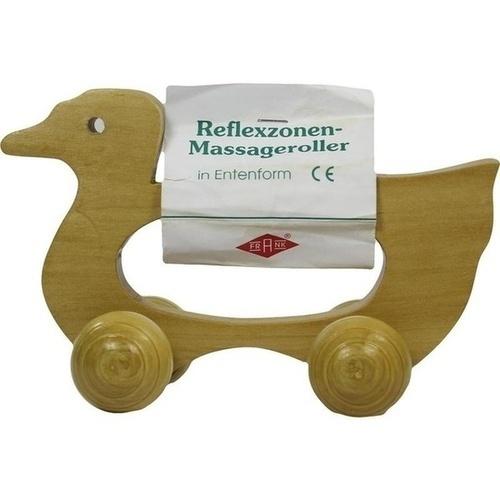 Massageroller Holz 4 Rollen Entenform