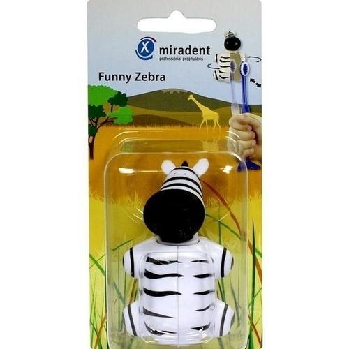 MIRADENT Kinderzahnbürstenhalter Funny Zebra 1 St - Versandkostenfrei ab 20€
