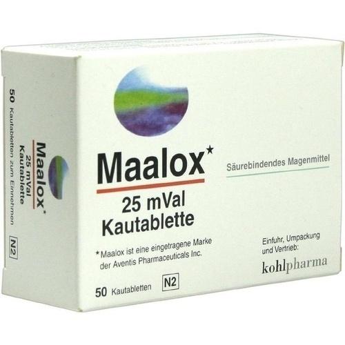 MAALOX 25 mVal Kautabletten 50 St.