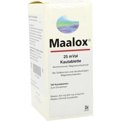 MAALOX 25 mVal Kautabletten 100 St.