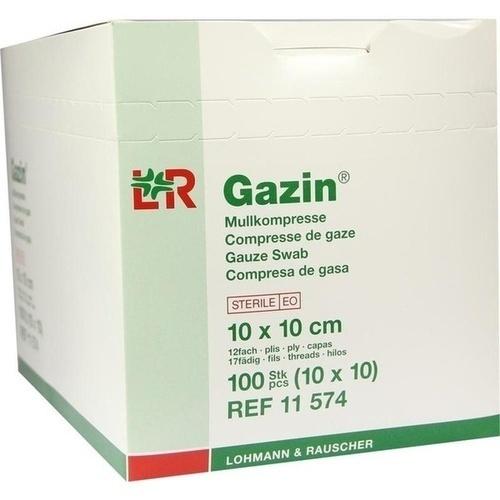 GAZIN Mullkomp.10x10 cm steril 12fach