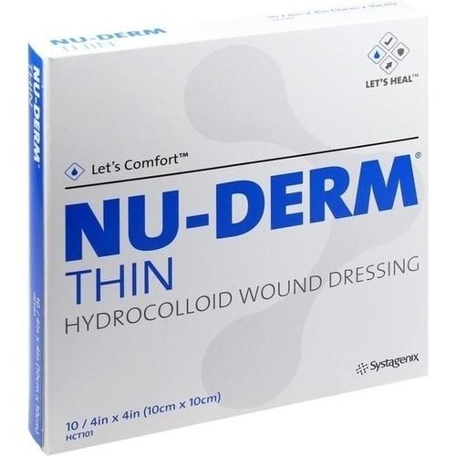 NU-DERM Thin Hydrokolloid Verband 10x10 cm