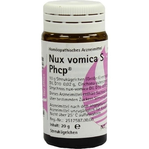 NUX VOMICA S Phcp Globuli