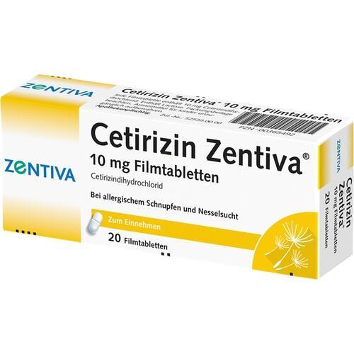 CETIRIZIN Zentiva 10 mg Filmtabletten