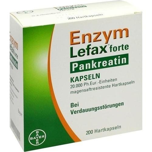 ENZYM LEFAX forte Pankreatin magensaftres. Kapseln